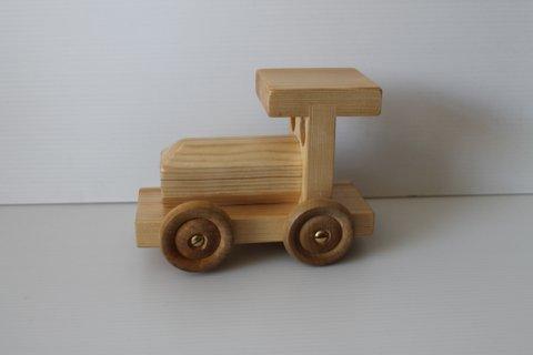 Train incl birch wheels
