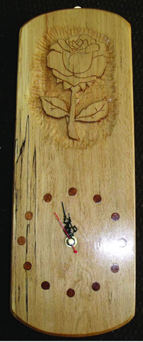 Spalted Beech Clock incl clock parts